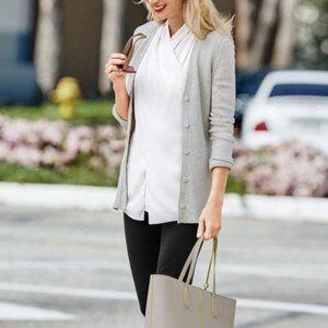 CAbi Shorttail Cardigan Grey Sweater 3161 Medium